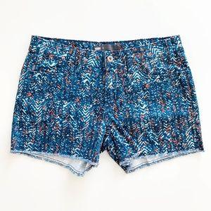 Levi's Mid Rise Cutoff Jean Shorts Geometric 8/29